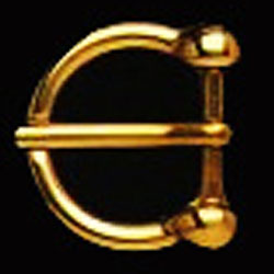 DV0S180-20 mm Solid brass buckle horseshoe shaped