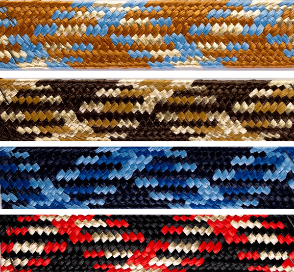 Mulit coloured woven webbing