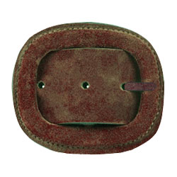 flocked brown buckle
