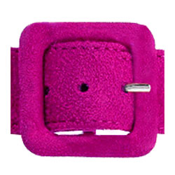 Flocked pink buckle by devanet