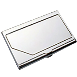 Business card holder with  insert