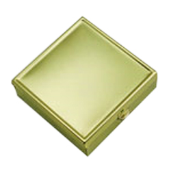 DV-PB017 Pill Box Gold Colour Square
