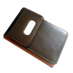 DV-CH058 Leather Business Card Holder with blank plate